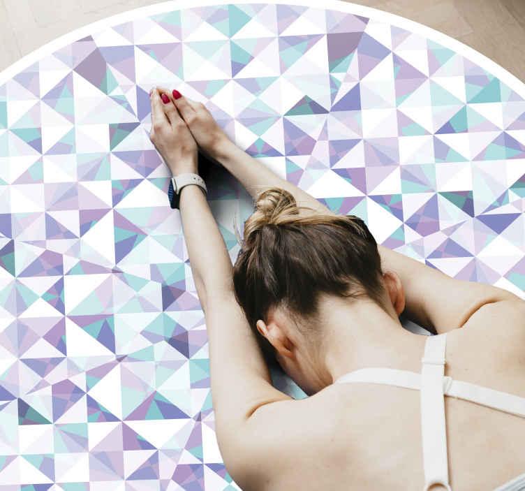 Tenstickers. Glassmosaikkfliser vinylgulv. Glassmosaikkfliser gulv runde tepper vinyl tepper for å dekorere gulvplass i stuen, og det passer også til andre rom i et hus