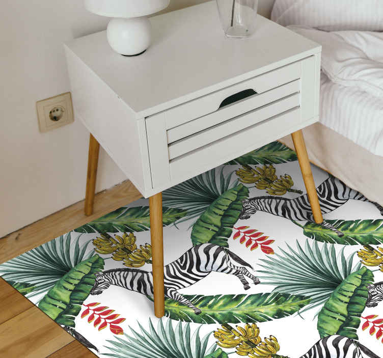 TenStickers. Nature Pattern animal mat. Want to give your floors a cool and refreshing new look? Do you also just love nature? Then why not order this animal nature vinyl rug today!