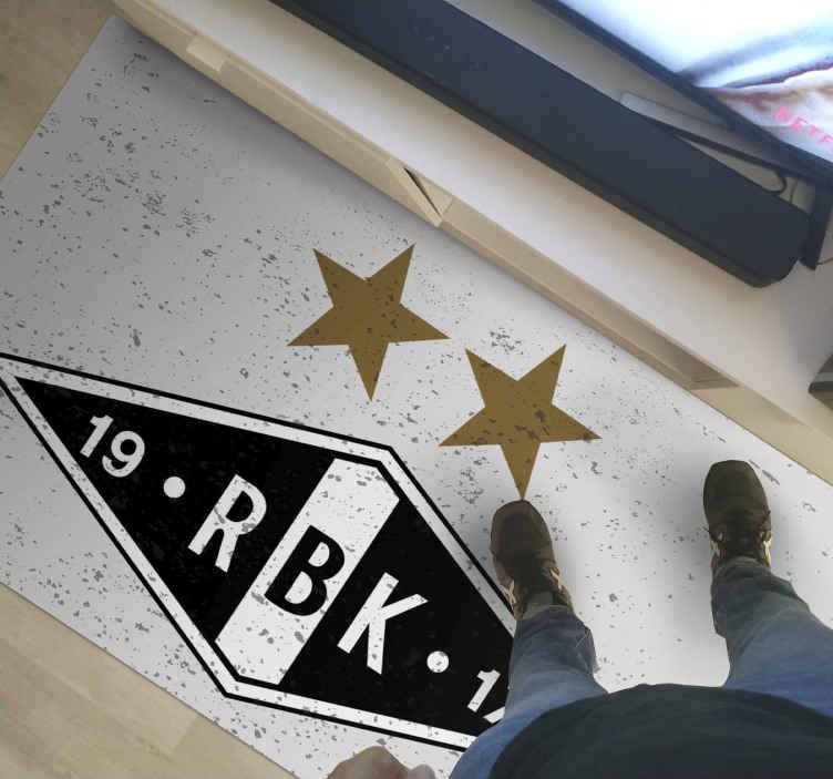 Tenstickers. Rosenborg logo etniske tepper. Et eksklusivt Rosenborg logo etnisk vinylteppe for å forbedre ditt hjem dekorasjon som representerer din personlighet. Fås i mange størrelser!