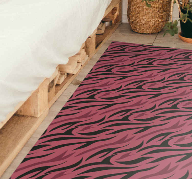 TenStickers. Wolf fur  animal print carpet. Colorful wolf fur print vinyl rug from our collection of animal print vinyl flooring carpet. Made from quality vinyl, durable and available in sizes.