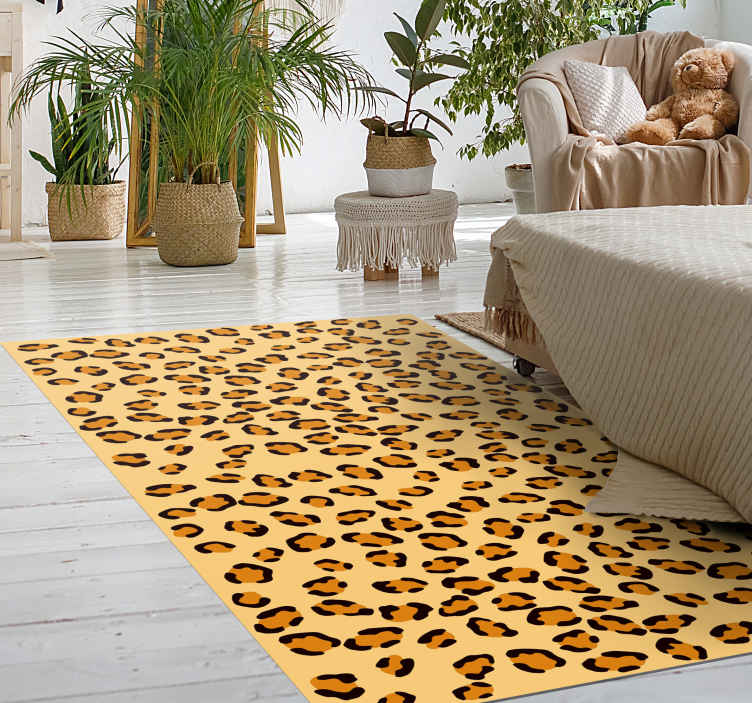 TenStickers. Cheetah print animal vinyl print carpet. Change the look on your space with our Cheetah print animal print vinyl rug made from quality vinyl. The size is customizable to any dimension.