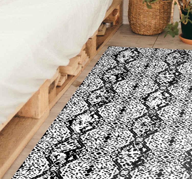 TenStickers. Tapete de pele de cobra branca com estampa animal. Dê ao chão da sua casa um visual muito mais moderno e exótico com este original tapete de vinil branco cobra. Encomende hoje para uma limpeza fácil!