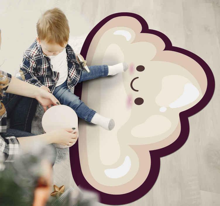 TenVinilo. Alfombra vinilo infantil nube rosa sonriente. Aquí tenemos una alfombra vinilo infantil perfecta para la decoración de tu hogar. Diseño bonito con nube feliz ¡Envío gratuito a domicilio!