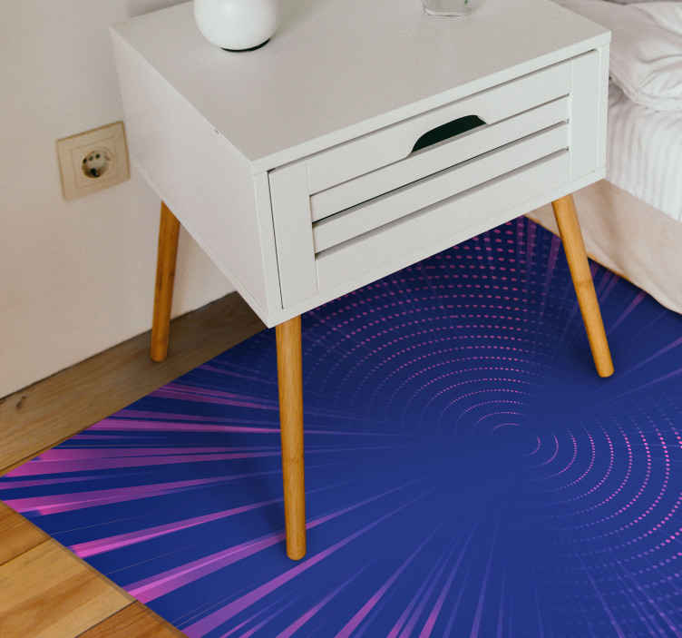TenStickers. Polka dot vortex geometric carpets. Polka dot vortex geometric rugs to transform the look on any room or space. The carpet is durable, original and has resist ability to external effect.