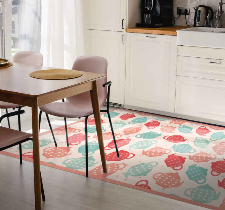 Polka Dot Kitchen Tools Geometric Rugs Tenstickers