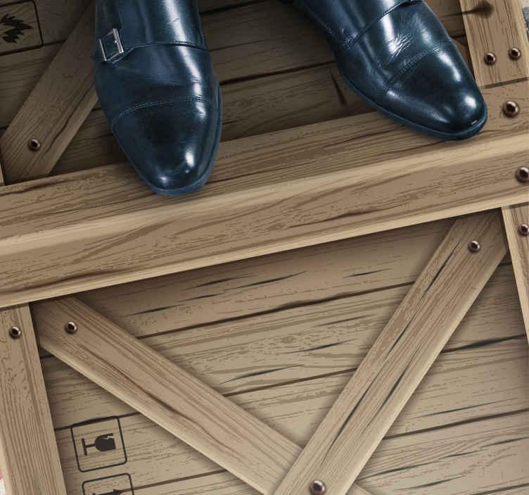 TenVinilo. Alfombra vinilo textura caja madera. Increíble alfombra vinilo textura caja madera para que decores tu salón o habitación de forma original y exclusiva ¡Envío gratuito!