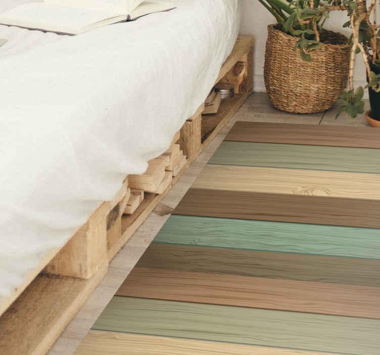 TenVinilo. Alfombra vinilo textura madera tonos pastel. Increíble alfombra vinilo textura madera con tablones tono pastel para que decores tu dormitorio de forma original y sobria ¡Envío exprés!