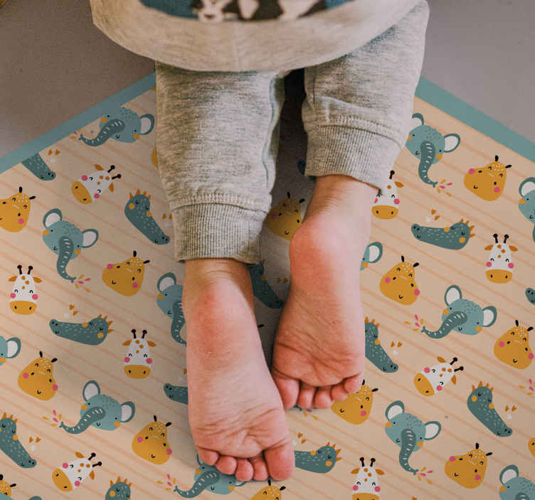 TenStickers. Happy Elephants kids vinyl carpet. Are you looking for the perfect gift for your child's room? Why not buy this awesome animal kids vinyl rug. Order now ! Home delivery !