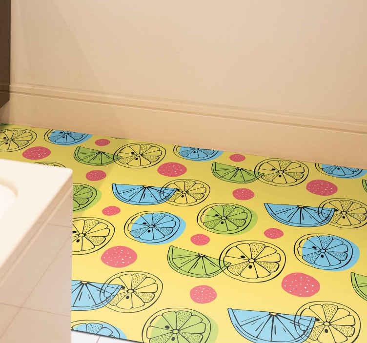 TenVinilo. Alfombra vinilo cocina frutas cítricas. ¡Pida esta alfombra vinilo cocina de frutas hoy y téngalo en su hogar en solo unos días! Fácilmente lavable con agua y jabón ¡Envío gratis!