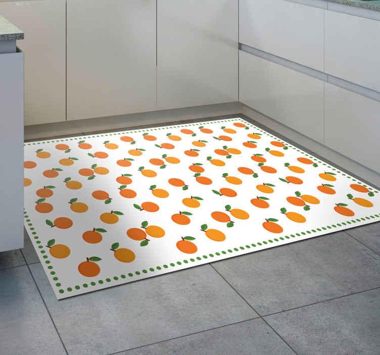TenVinilo. Alfombra vinilo cocina patrón naranjas. ¡Pida hoy esta alfombra vinilo cocina de naranjas y sorpréndase con su alta calidad! Se puede lavar y limpiar fácilmente ¡Envío gratuito disponible!