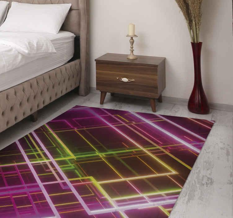 TenVinilo. Alfombra vinilo rayas rayos de luz. ¡Obtenga esta alfombra vinilo rayas de luz hoy y sorpréndase! Material antideslizante para que no se resbale ni se lastime ¡Envío gratis!