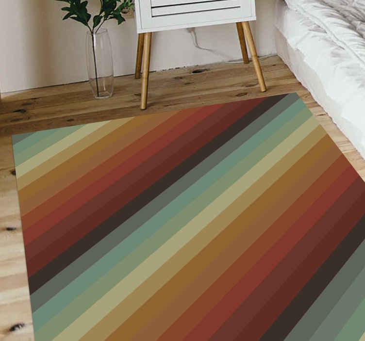 TenVinilo. Alfombra vinilo rayas estilo retro. Decora tu casa con esta alfombra vinilo rayas de colores retro. Disponible en cualquier tamaño que necesite y fácil de limpiar ¡Envío exprés!