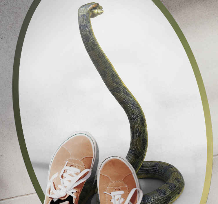 TenStickers. Realistic Snake animal mat. Very nice and chic animal print rug  Very easy to clean and to apply. Buy it now online! Easy to apply! with Home delivery!
