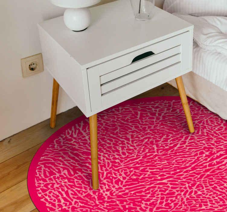 TENSTICKERS. ピンクの象のプリントアニマルプリントのカーペット. あなたの寝室、リビングルームを飾るのに最適な非常に魅力的でカラフルなピンクの象のプリントの寝室のビニールフローリング。今すぐオンラインで購入!宅配!
