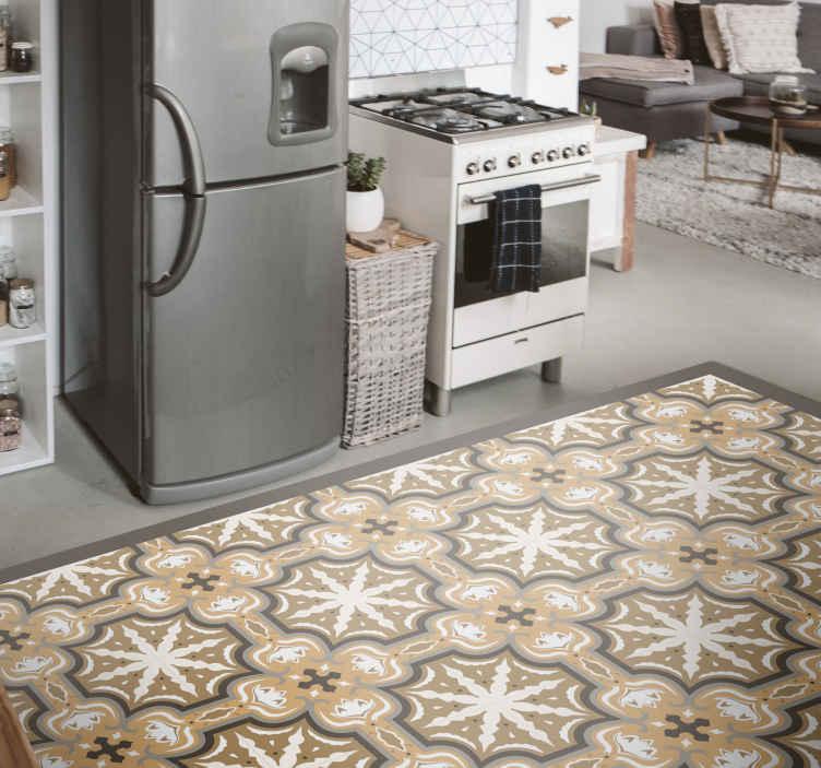 Tenstickers. Oransje beija flisematte. Oransje beija fliser vinylteppe - med dette teppet kan du se fliser på rommet ditt, det er originalt, falmer ikke og størrelsen er tilpasset.