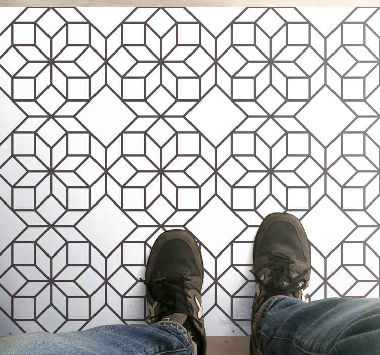 TenStickers. Elegant octagon tiles tile mat. Bring some Moroccan atmosphere inside your living room with this amazingly designed Moroccan tile vinyl rug. Buy your new living room carpet now!