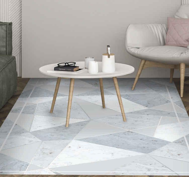 TenStickers. Composição de azulejo abstrato tapete de azulejo. Este incrível tapete de vinil marroquino é uma obrigação para sua sala de estar! Não espere mais e adquira o seu novo tapete da sala agora e encomende o seu!