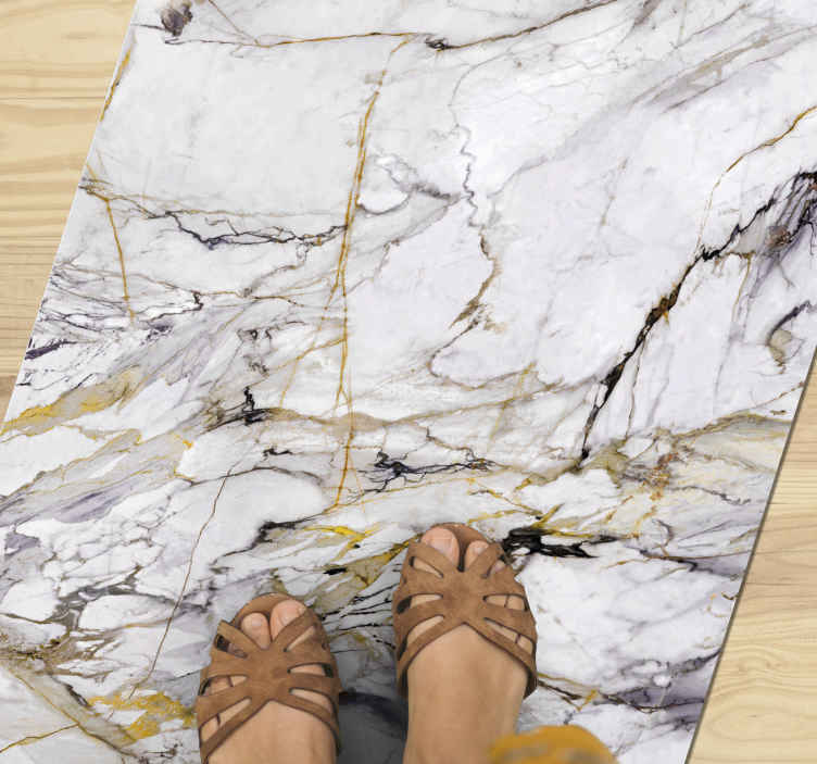TenStickers. 白色石材石材地板. 纹理层压地板乙烯基地毯,具有出色的设计,会让您感觉像碎片一样。现在在线购买!容易申请!送货上门!