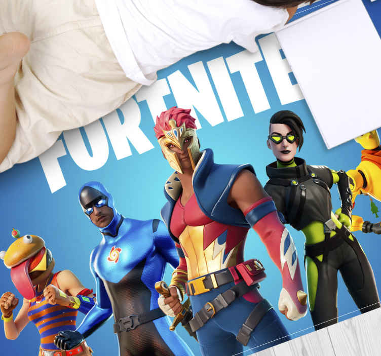 TenStickers. Fortnite Team teenage rugs for bedrooms. Are your kids love playing Fortnite? Then these are the kids room rugs you are looking for! Don't wait any longer and order yours now!