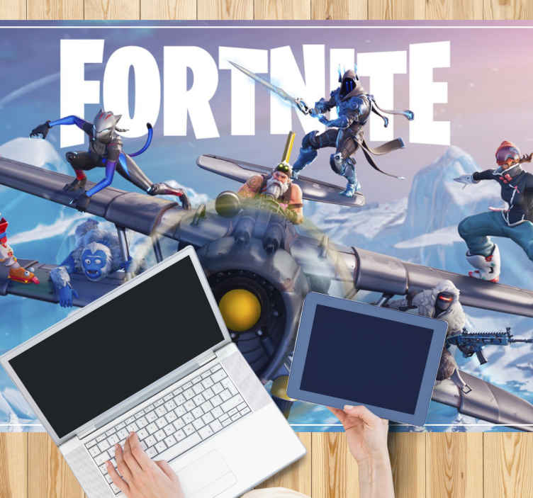 TenStickers. Fortnite aeroplane teenage rugs for bedrooms. Let your kids impress all their friends with this amazingly designed playroom rug! Don't wait any longer and order this amazing design now!