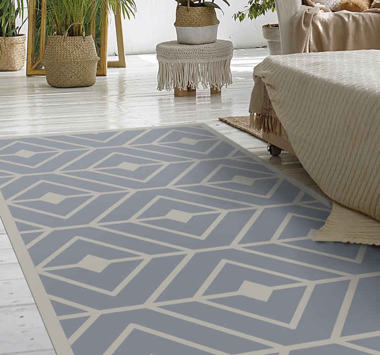 TenStickers. Modern geometric rug geometric carpets. This modern geometric stunning carpet will give your living room or bedroom a whole new look! Don't wait any longer and order now!