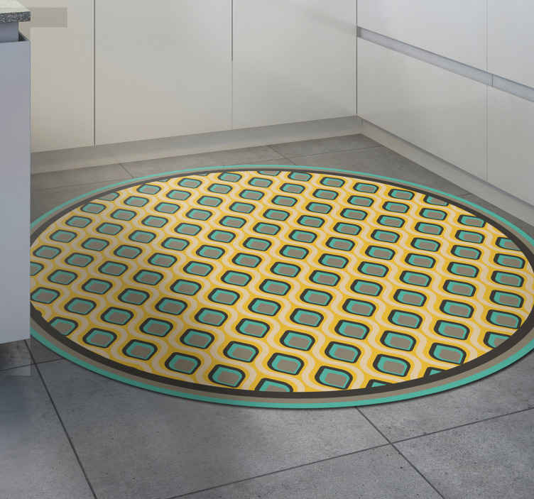 TenVinilo. Alfombra vinilo cocina estilo portugués. Increíble alfombra de vinilo minimalista bella pavo real portuguesa perfecta para tu hogar u oficina. Elige las medidas ¡Envío exprés!