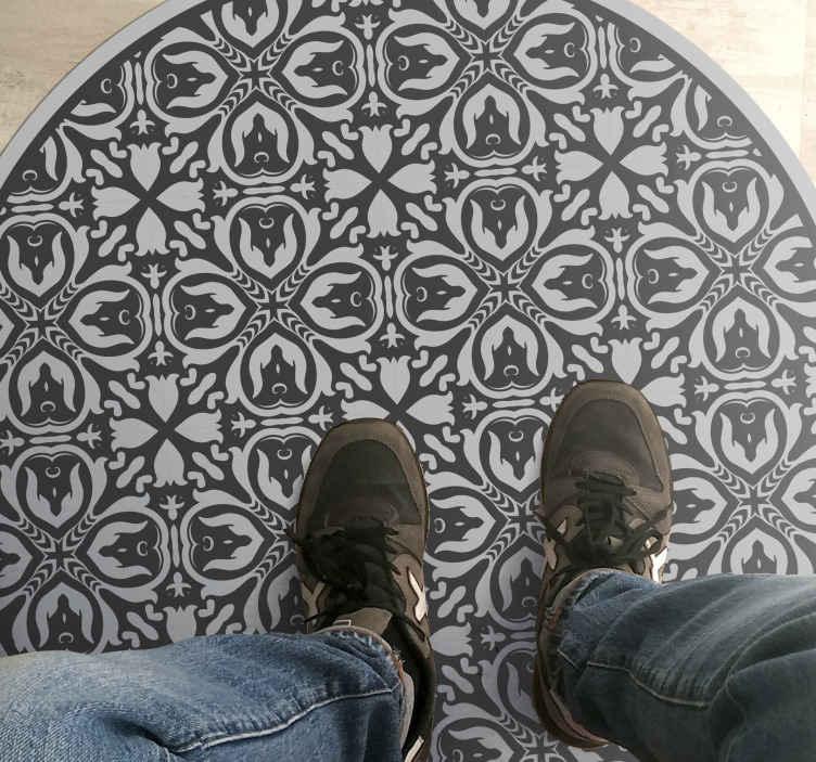 TenVinilo. Alfombra vinilo azulejos clásicos grises. Alfombra vinilo azulejos clásica gris perfecta y clásica. Fabricado con materiales de alta calidad ¡Compra ahora! ¡Descuentos disponibles!