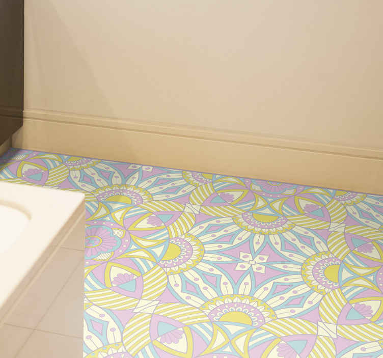 TenStickers. Mandala seamless colorful kitchen kitchen flooring. An awesome mandala vinyl rug design that will truly give your house so much more energy! Order it now from our webshop today!