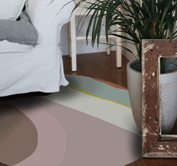 TenVinilo. Alfombra vinílica mosaico estilo retro. ¡Esya alfombra vinílica mosaico colorida, fresca y única, durará mucho tiempo en su hogar! Diseño redondo de estilo retro ¡Envío exprés!