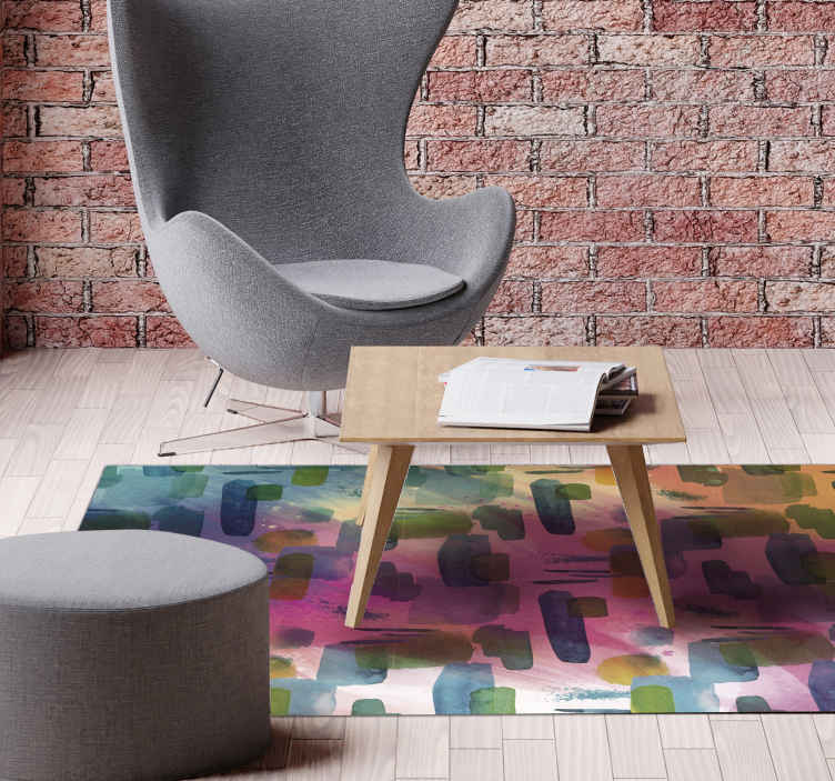 TenStickers. Abstract modern mosaic mosaic vinyl flooring. A very unique and cool decorative modern vinyl rug product that will really give your home more light! Home delivery if you order this product now!