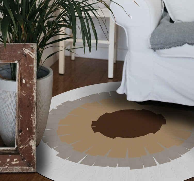 TenVinilo. Alfombra vinilo mosaico corteza marrón y blanco. ¿Qué mejor regalo para ti o para algo que conoces que esta alfombra vinílica mosaico de corteza de árbol? ¡Entrega a domicilio!