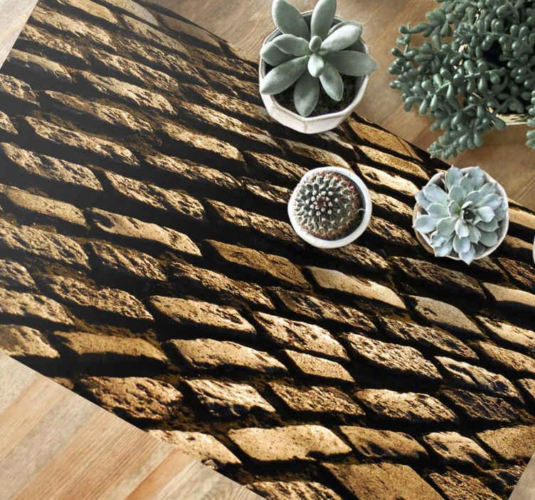 TENSTICKERS. スコットランドの石畳の石の床. この驚くべきスコットランドの石畳の石の床を今あなたの家に手に入れよう!お友達やご家族に感動を与えましょう。もう待って、今日あなたのものを注文しないでください!