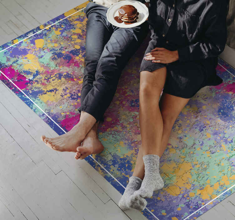 TenVinilo. Alfombra vinilo moderna de colores splash. ¡Consigue más colores en tu casa con esta increíble alfombra vinilo moderna de colores splash! ¡Descuentos disponibles! ¡Envío exprés!