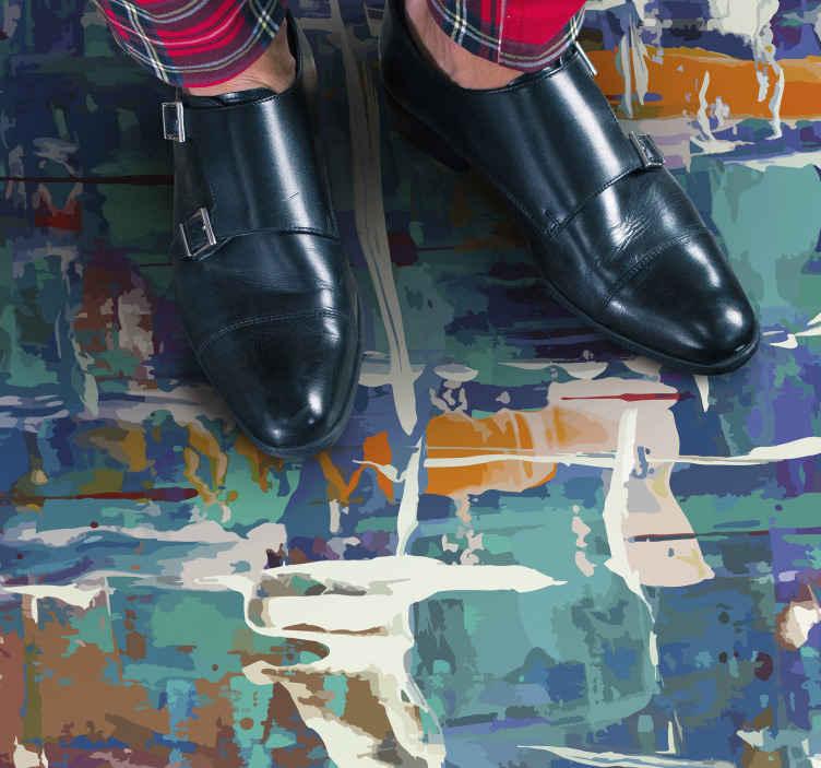 TenStickers. Tapete moderno reglindis tapetes contemporâneos. Tapete moderno reglindis vinyl floor para personalizar o seu espaço. Este tapete de vinil antiderrapante texturizado deixaria aquele visual vintage em seu espaço.
