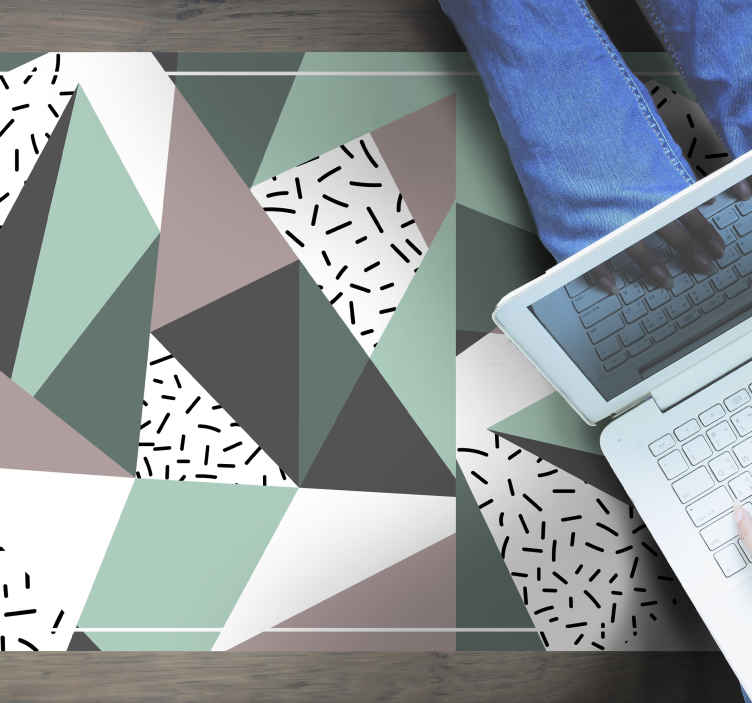 """TenVinilo. Alfombra vinilo textura triángulos nórdicos. Alfombra vinilo textura de """"triángulos texturados nórdicos"""" ¡Compra ahora online! ¡Entrega a domicilio! ¡Descuentos disponibles!"""