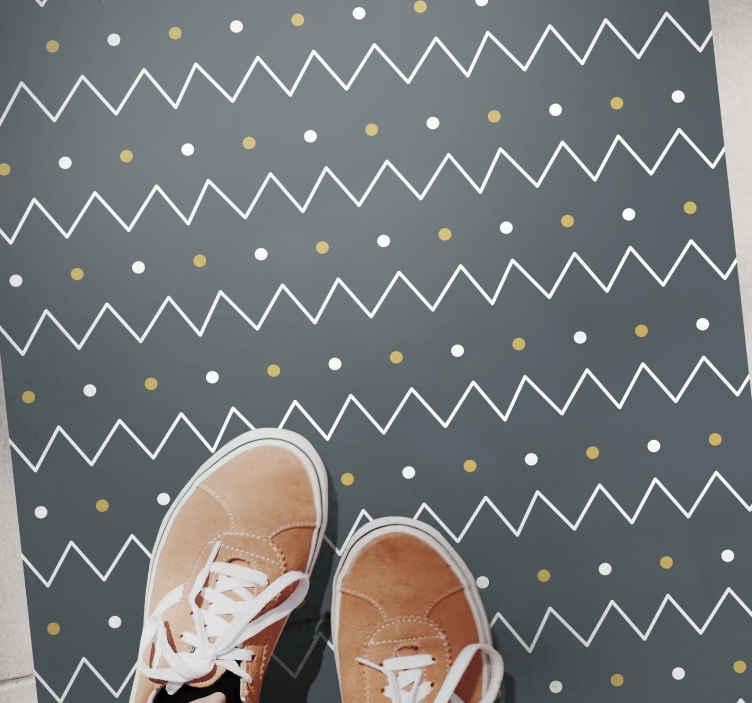 TenVinilo. Alfombra vinilo geométrica líneas nórdicas. Elegante y bonita alfombra vinilo geométrica. Ideal para decorar cualquier estancia cómpralo ya. Elige las medidas que desees ¡Envío exprés!