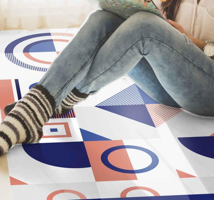 TenStickers. İskandinav geometrik desen geometrik halılar. Zarif ve soyut İskandinav geometrik desen yatak odası döşeme. Evde en iyi dekorasyonu isteyenler için. Seninki sıralı olsun! Eve teslim!