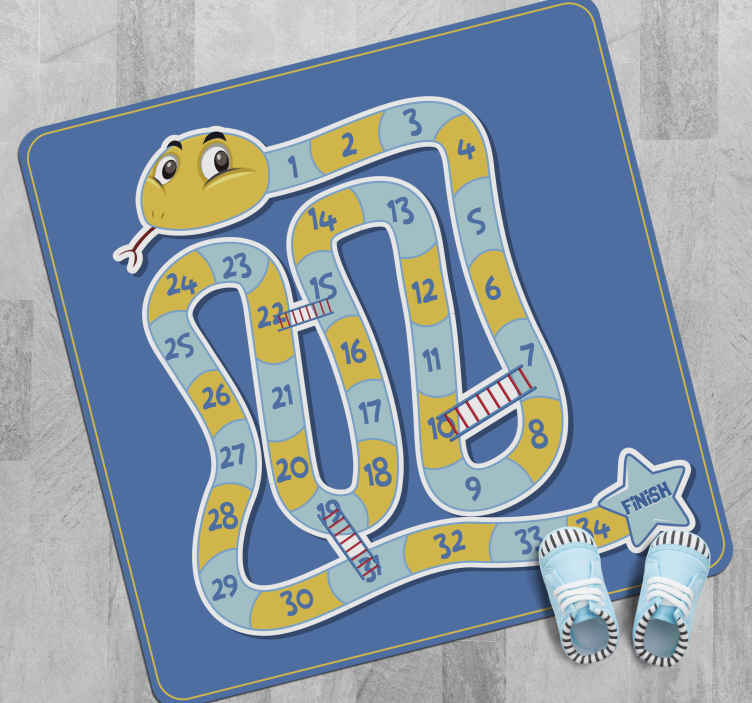 TenStickers. Snake game board game vinyl rug. Living room vinyl flooring perfect to decorate any place at home, office or schools. Buy it right now because it's just one click away