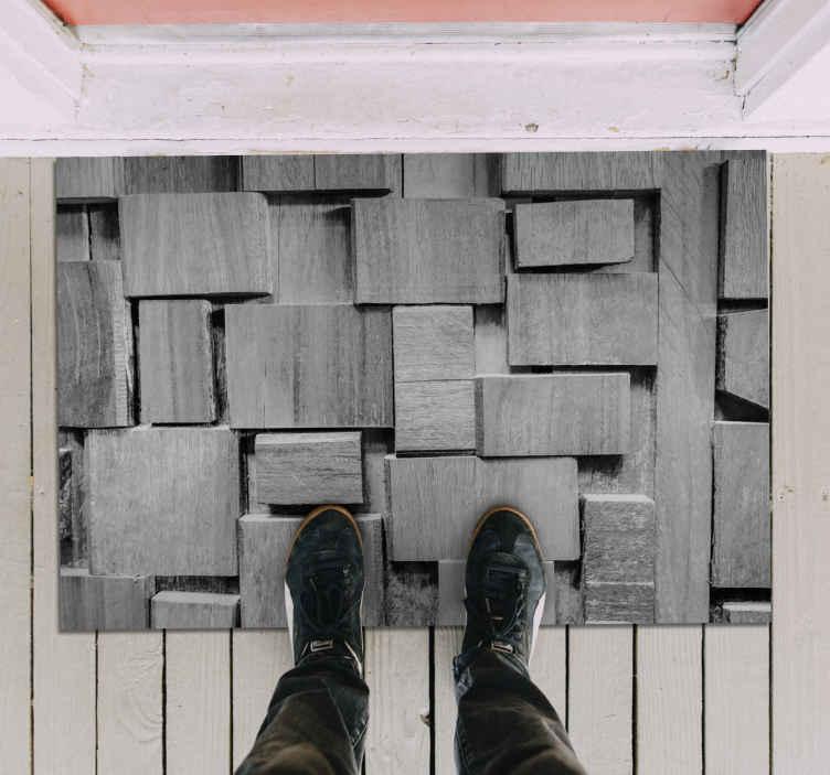 TenVinilo. Alfombra vinilo textura piedras superpuestas. Alfombra vinilo textura piedras muy elegante que realmente le dará a tu casa mucha más energía! Diseño original ¡Elige medidas!