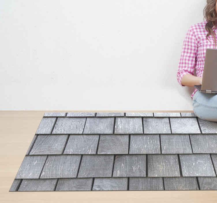 TenVinilo. Alfombra de vinilo textura tablones de madera vintage. Alfombra vinilo gris con efecto textura tablones de madera, ideal para que decores el piso de tu hogar. ¡Elige las dimensiones, entregamos a domicilio!