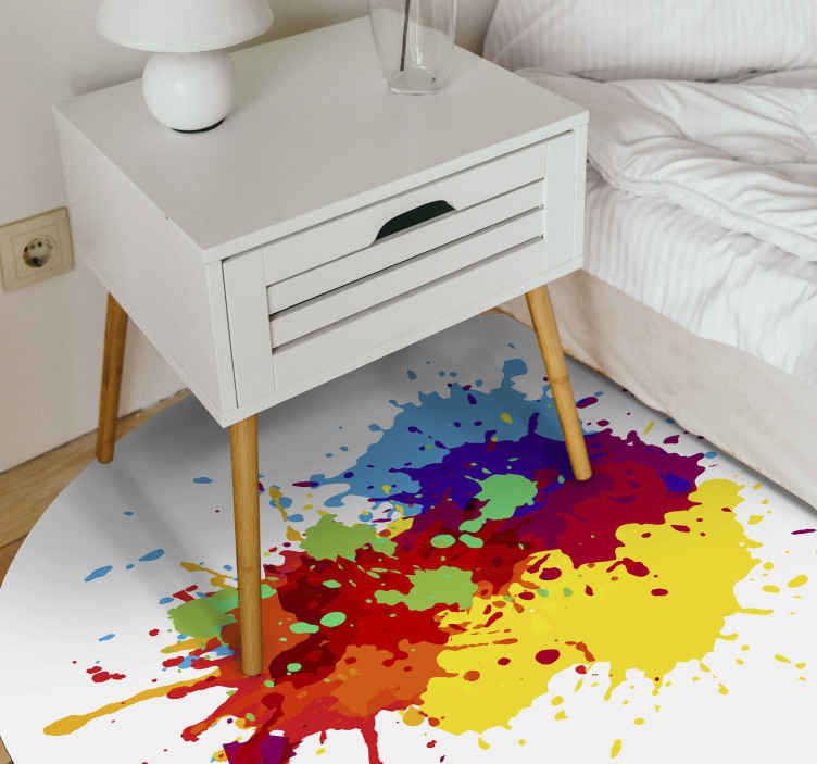 TenStickers. Splashes teenage rugs for bedrooms. This fancy splash color vinyl rug product will surely bring your room so much more light! Order this beautiful product from our webshop today!