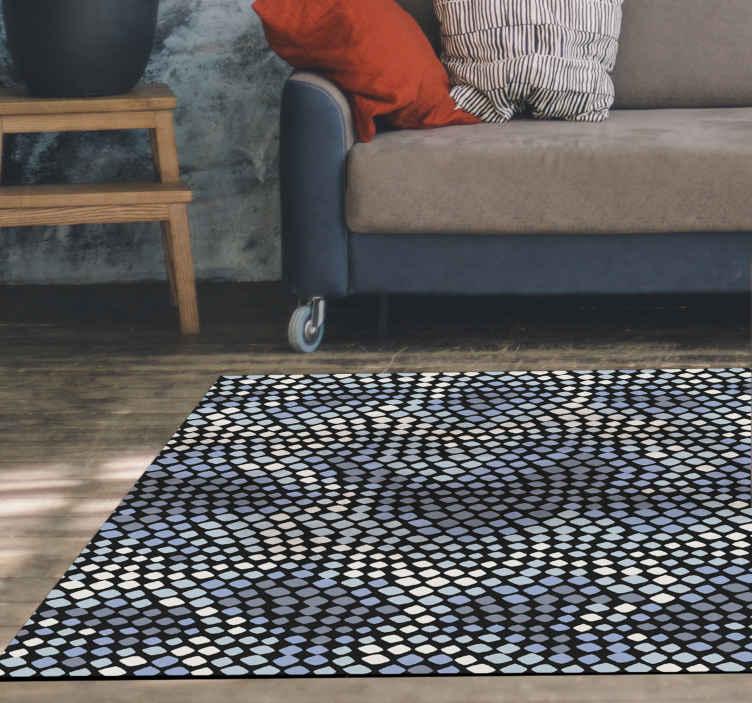 TenVinilo. Alfombra vinilo animal print patrón serpiente. Alfombra vinilo animal con patrón de serpiente en tonos grises para que decores tu casa de forma original ¡Descuentos disponibles!