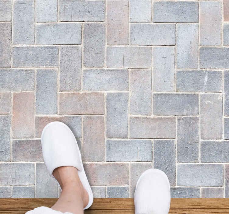 TenVinilo. Alfombras vinilo textura baldosas grises. Alfombra vinilo textura con el diseño de pura roca con efecto azulejo ideal para usar en el suelo de tu cocina, comedor o cualquier otro lugar.