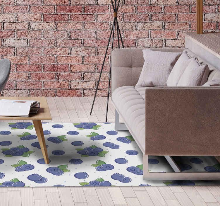 TenVinilo. Alfombra vinilo vintage patrón frutas. Consigue vibraciones de los 70 en tu casa con esta increíble alfombra vinilo vintage con patrón de frutas. Fácil de limpiar ¡Envío exprés!