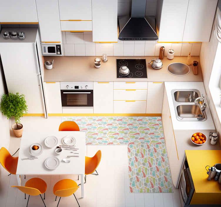 TenStickers. Mutfak bitki karoları mutfak yer döşemesi. Bu sevimli mutfak vinil halı ürünüyle tüm arkadaşlarınız ve aileniz yepyeni dekorunuzu çok kıskanacak! Bunu şimdi sipariş et!