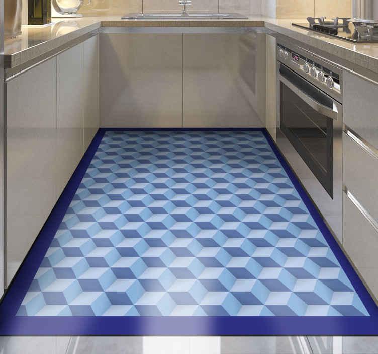 TenStickers. 3d küp mutfak döşeme. Bu güzel 3d küp karo halıyla bir evde herhangi bir alanı sunun ve alanın ne kadar harika olacağını görün. Orijinal, kaymaz, temizlenmesi kolay
