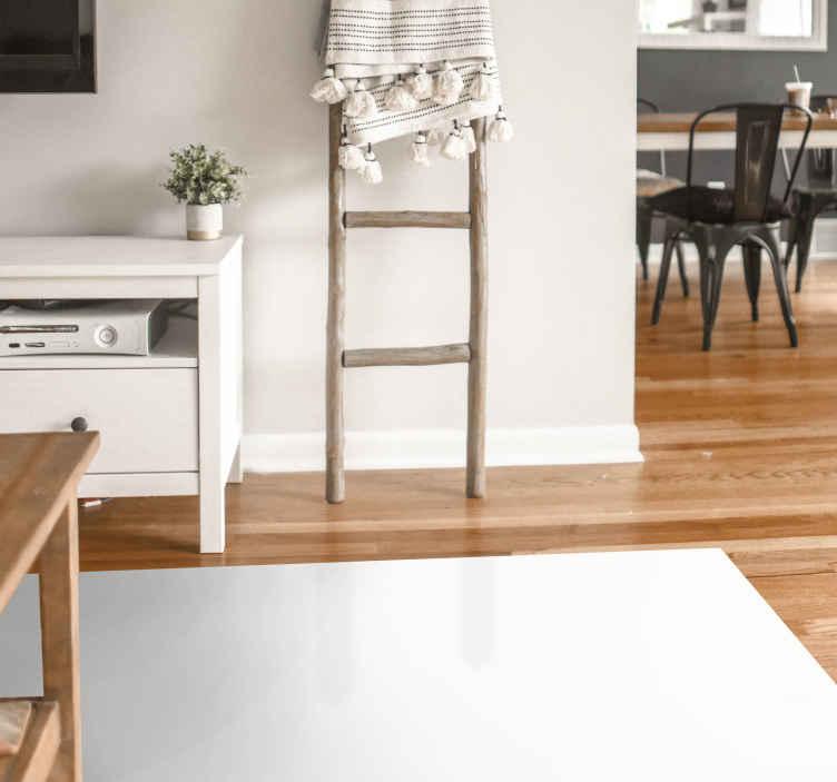 TenVinilo. Alfombra vinilo moderna color blanco. Alfombra vinilo blanca rectangular para que decores a tu gusto cualquier estancia de la casa. Si te gustan los diseños blancos, este es el tuyo.