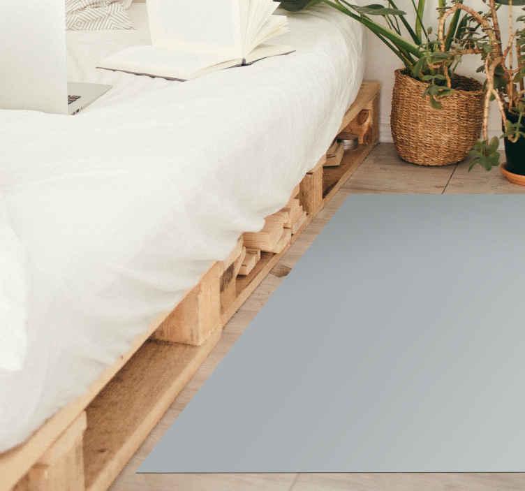 TenVinilo. Alfombra vinilo rectangular gris. Fantástica alfombra vinilo gris de forma rectangular para que decores cualquier estancia del hogar o de tu empresa ¡Elige tus medidas!