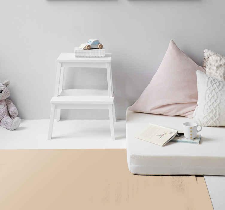 TenVinilo. Alfombra vinilo rectangular beige. Alfombra vinilo rectangular beige para que decores cualquier estancia de tu casa, o bien tu negocio, con tu color preferido ¡Envío exprés!