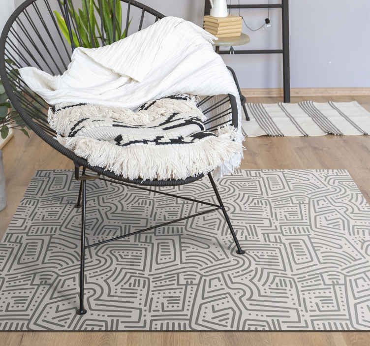 TenStickers. Nordic style abstract gray nordic style rugs. Pioneer of the sale of lounge rugs online we offer you wide and varied product of nordic style vinyl rug.This rug does not bleach over time.